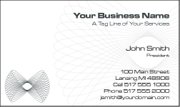 Business Card Design 791 for the Academic Industry.