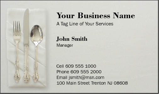Business cards for caterer business card design 38 for the catering industry colourmoves