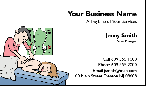 Business Card Design 41 for the Chiropractic Industry.