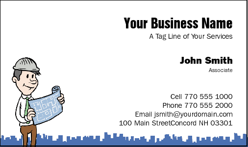 Business Card Design 25 for the Building Industry.