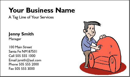 Business Card Design 216 for the Upholstery Industry.