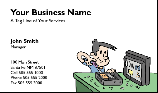 Business Card Design 198 for the Computer Repair Industry.
