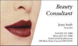 Business Card Design 223 for the Cosmetic Industry.