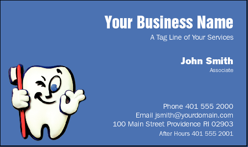 Business Card Design 511 for the Dental Industry.