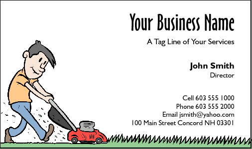 Business Card Design 209 for the Gardening Industry.