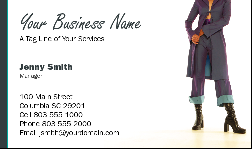 Business Card Design 742 for the Fashion Industry.