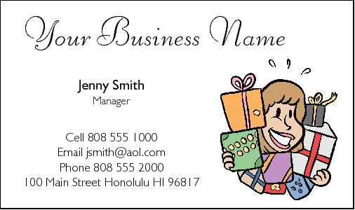 Business Card Design 202 for the Gift Industry.