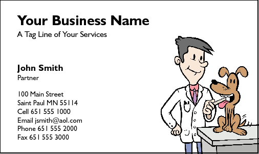 Business Card Design 218 For The Veterinarian Industry