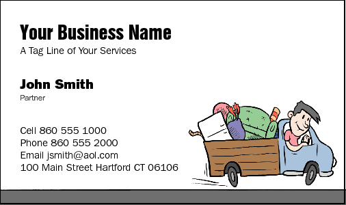 Business Card Design 35 for the Removalist Industry.