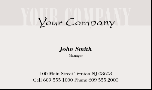 Business Card Design 343 for the Accounting Industry.
