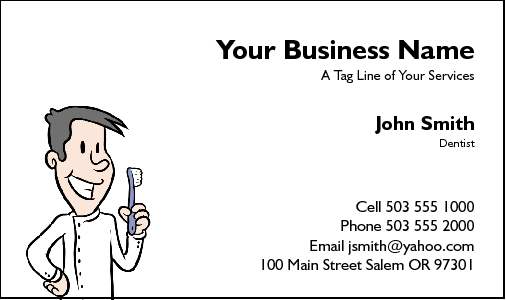 Business Card Design 44 for the Dental Industry.
