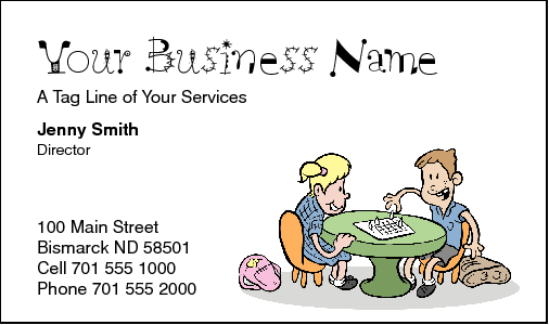 Business Card Design 185 for the Childcare Industry.
