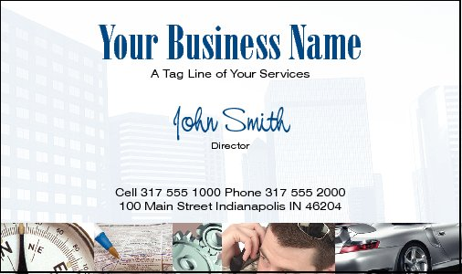 Business Card Design 559 for the Financial Industry.