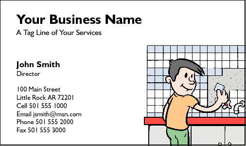 Business Card Design 215 for the Tiling Industry.