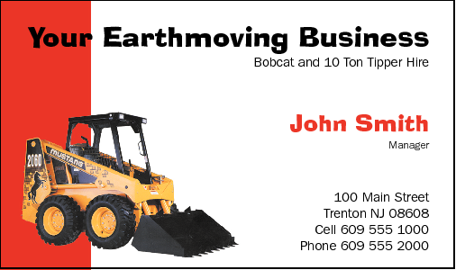 Business cards for earthmoving business card design 545 for the earthmoving industry reheart