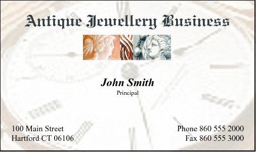 Business Card Design 575 for the Antique Industry.