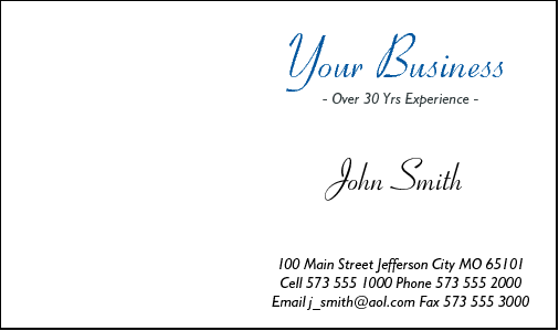 Business Card Design 574 for the Wedding Industry.