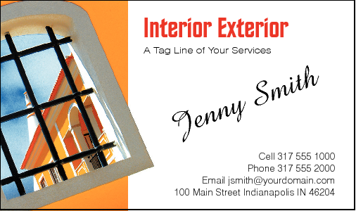 Business Card Design 549 For The Interior Industry