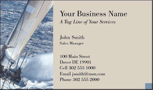 Business Card Design 98 for the Nautical Industry.