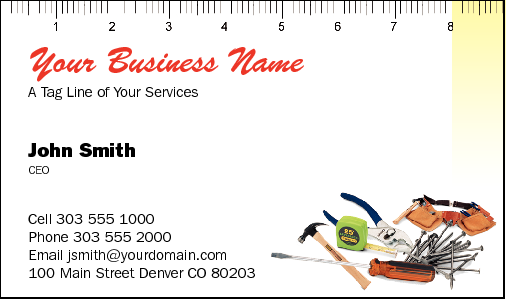 Business Cards for Handymen