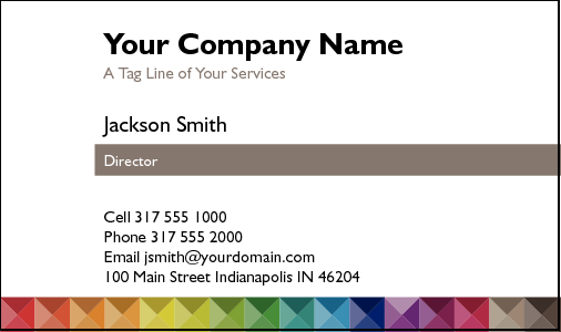 Business Card Design 4567